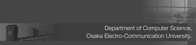 大阪電気通信大学 メディアコンピュータシステム学科