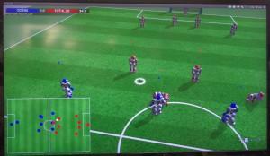 3Dシミュレーションリーグの試合の様子