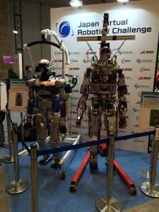 会場にはDRCに出場したロボットも展示されていました.